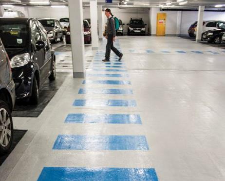 Linear heat detection multi-storey car park