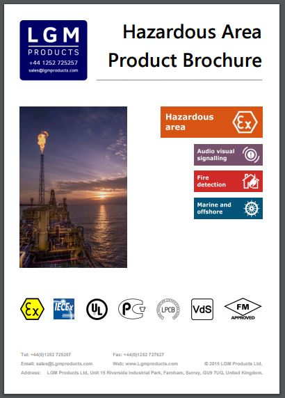 Hazardous area brochure full. Intrinsically safe and explosion proof products from LGM Products.